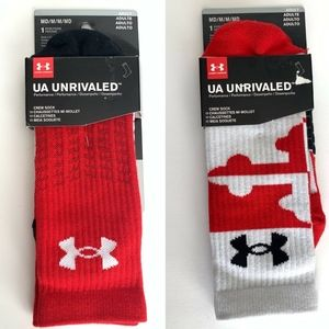 Under Armor Unrivaled Men's Crew Athletic Socks M